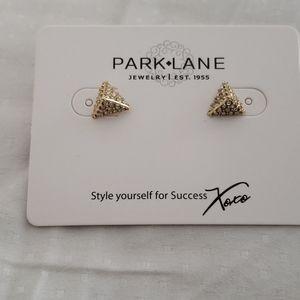 Parklane Triangle Stud Earrings Brand New